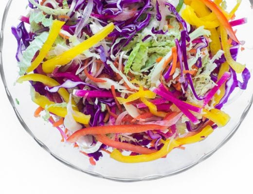 Spicy Rainbow Slaw recipe | theviewfromgreatisland.com
