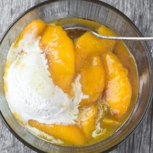 fried peaches