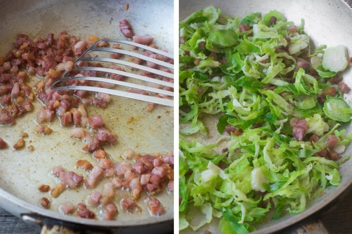 Brussels Sprout Carbonara ~ theviewfromgreatisland.com