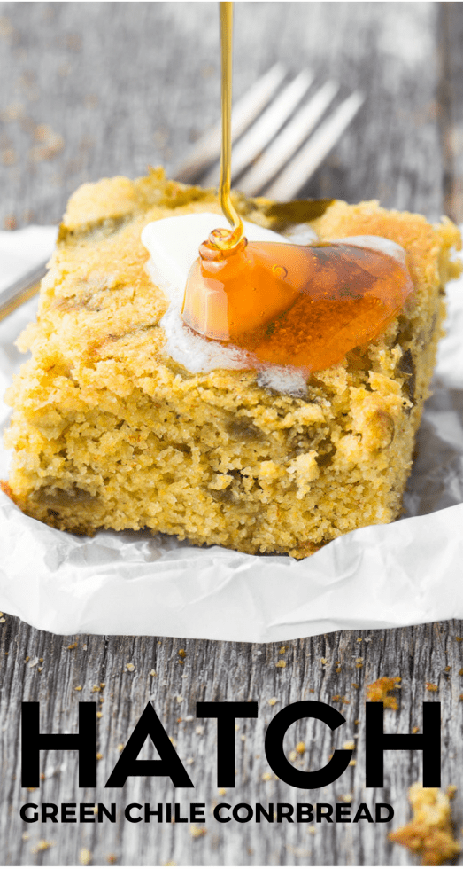 Hatch Green Chile Cornbread is a tantalizing combination of sweet and heat! | theviewfromgreatisland.com