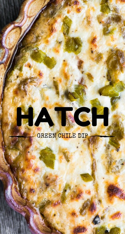 Cheesy Hatch Green Chile Dip pin