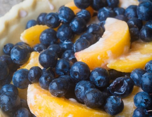 Blueberry Peach Crumble Pie ~ theviewfromgreatisland.com