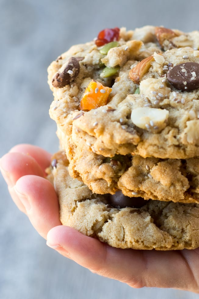 Back to School Breakfast Cookies are packed with fruits, nuts, and seeds, for a quick grab and go start to the day! ~ theviewfromgreatisland.com