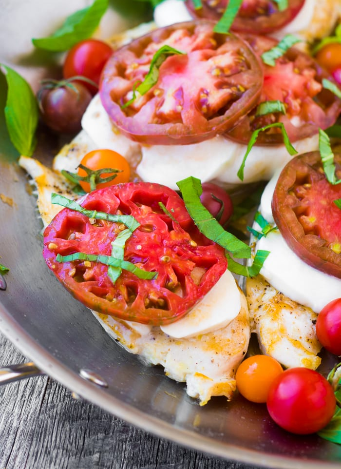 Caprese Chicken Skillet ~ theviewfromgreatisland.com