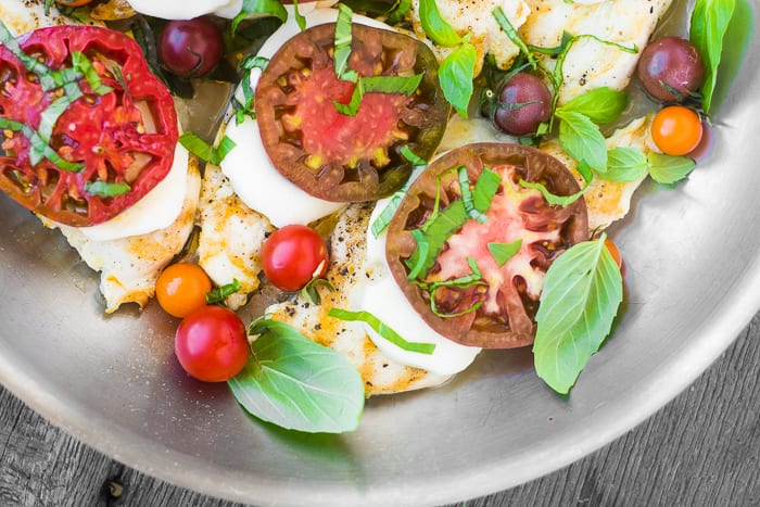 Caprese Skillet Chicken is a crazy fast weeknight meal ~ theviewfromgreatisland.com