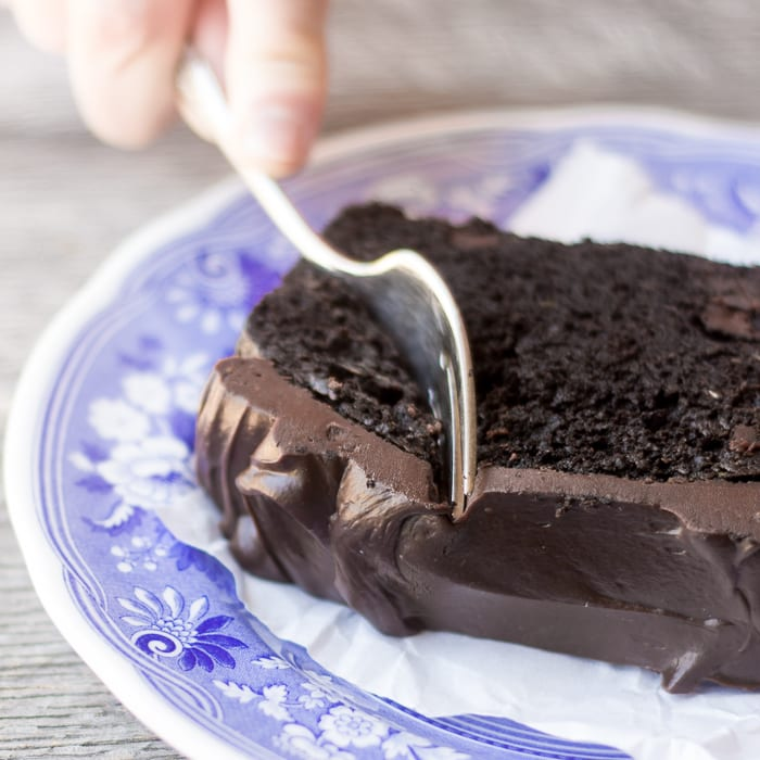 Death By Chocolate Zucchini Cake with a bittersweet chocolate ganache is the ultimate zucchini dessert! ~ theviewfromgreatisland.com