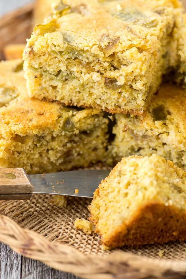 Hatch Green Chile Cornbread makes the perfect side for fall soups and stews. | theviewfromgreatisland.com