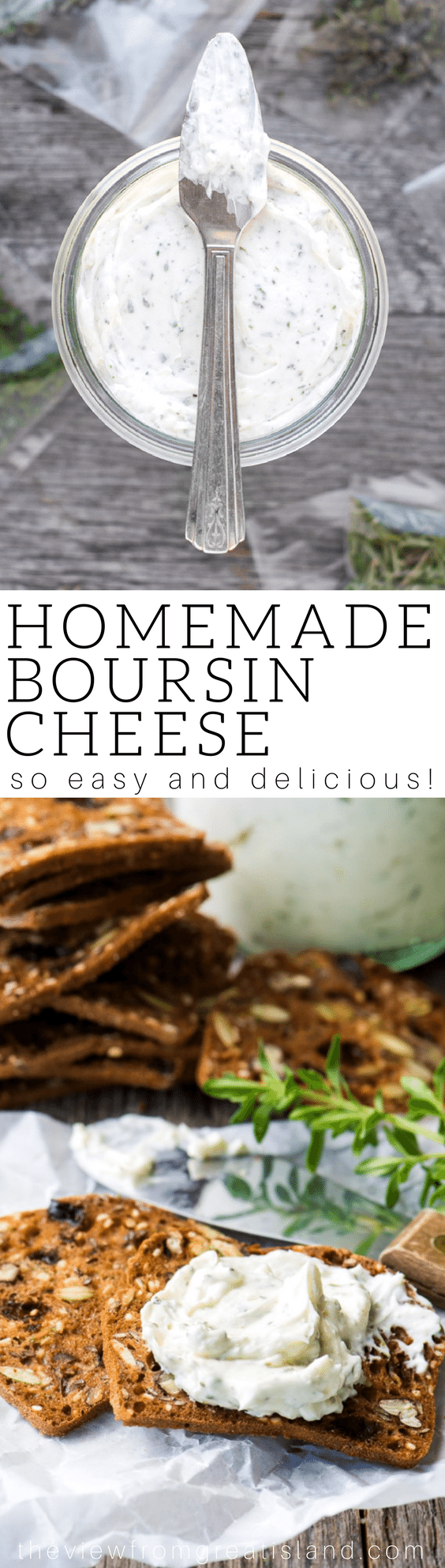 My Homemade Boursin Cheese recipe will blow you away, it's perfect for the holidays! #diy #cheese #herbs #cheeseandcrackers #appetizer # driedherbs #herbedcheese #homemadecheese #spread #recipe #easy #creamcheese