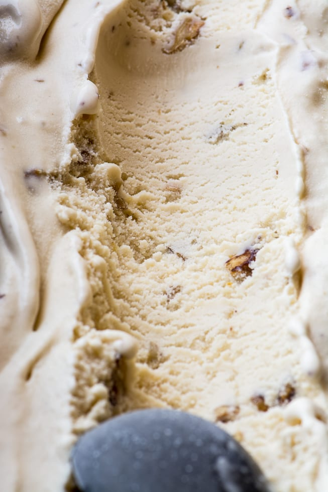 Maple Walnut Ice Cream is the perfect fall flavor, sweetened only with pure maple syrup and loaded with crunchy toasted walnuts... | theviewfromgreatisland.com