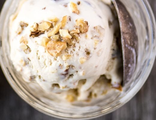 Maple Walnut Ice Cream is a vintage New England recipe that will quickly become your favorite! | theviewfromgreatisland.comvi