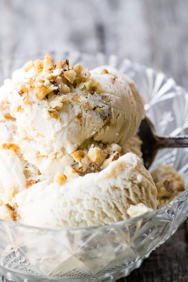 A fabulous Maple Walnut Ice Cream Recipe that will be your new favorite flavor! | theviewfromgreatisland.com