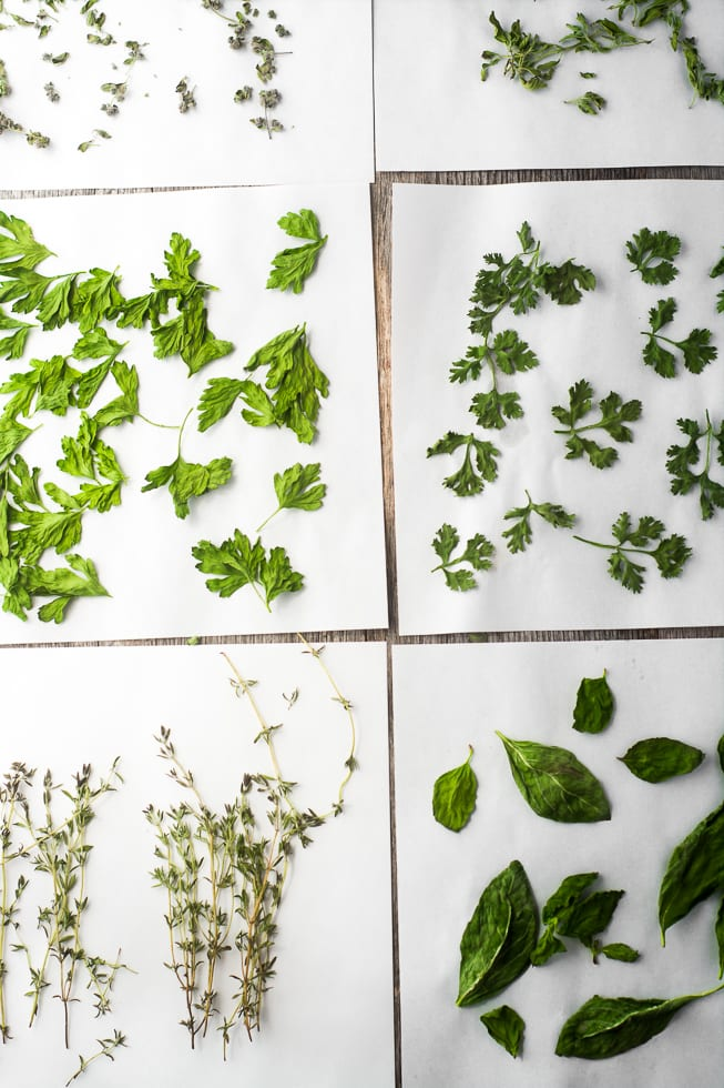How to Dry Herbs in the Microwave ~ theviewfromgreatisland.com