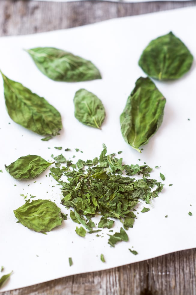 Fresh basil dried in the microwave ~ theviewfromgreatisland.com