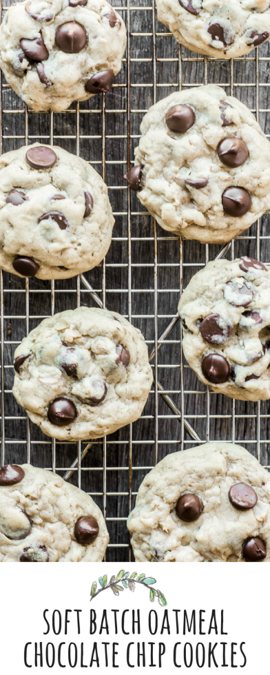 Soft Batch Oatmeal Chocolate Chip Cookies are soft, chewy, and oh so delicious! | theviewfromgreatisland.com