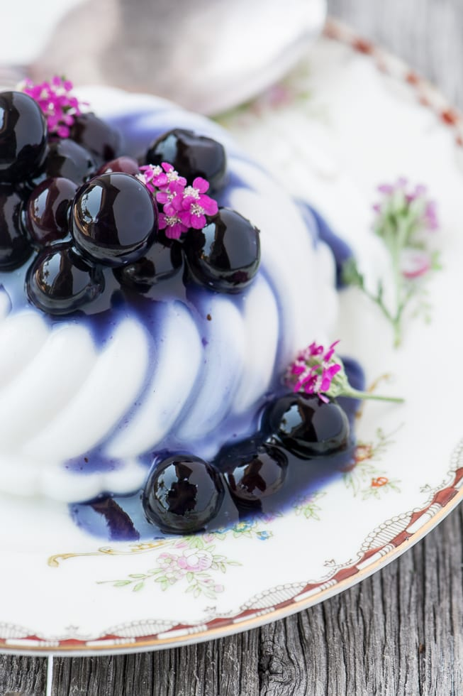 Vegan Coconut Panna Cotta with Blueberries ~ theviewfromgreatisland.com