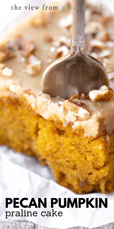 pecan pumpkin praline cake pin