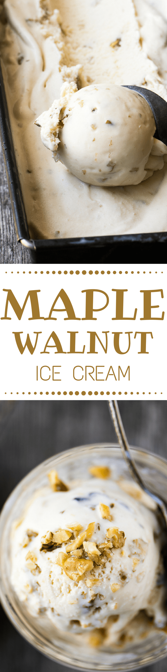 Maple Walnut Ice Cream has to be one of the great flavors of all time. This New England classic is sweetened with pure maple syrup, and loaded with crunchy toasted walnuts for a memorable, fall themed frozen treat.