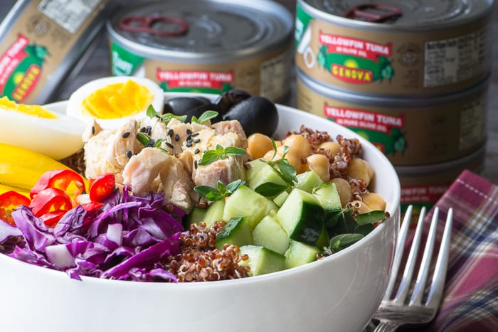 Albacore Buddha Bowl made with Genova Wild Caught Tuna ~ theviewfromgreatisland.com