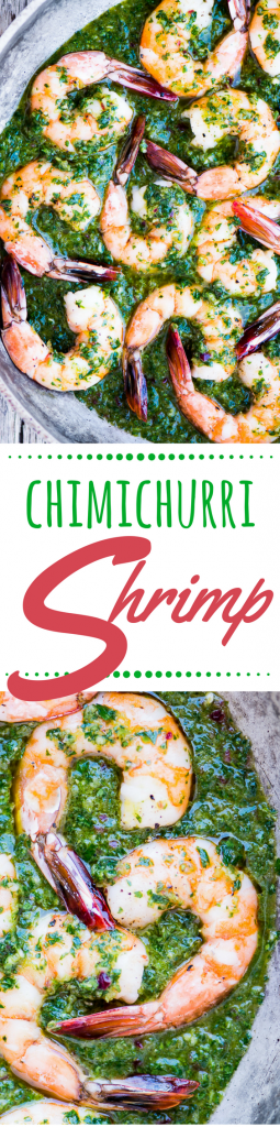 Chimichurri Shrimp is a healthy, vividly flavored low carb and paleo friendly appetizer or a 30-minute family meal, depending on how you serve it ~ theviewfromgreatisland.com