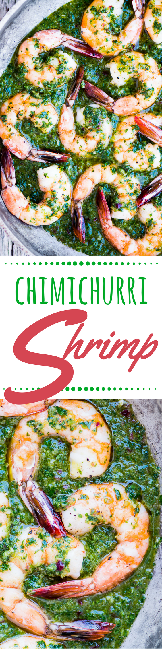 Chimichurri Shrimp ~ this can be a low carb and paleo friendly appetizer, or a comforting 30-minute meal when you pair it with pasta, couscous, or warm toasty bread. #seafood #bestshrimp #easyshrimp #shrimprecipe #30minutemeal #meatlessmonday #lowcardshrimp #weightwatchers #lowcalorie #deliciousshrimp