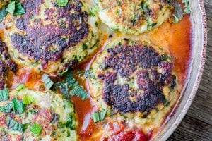Yotam Ottolenghi's Cod Cakes in Tomato Sauce ~ theviewfromgreatisland.com