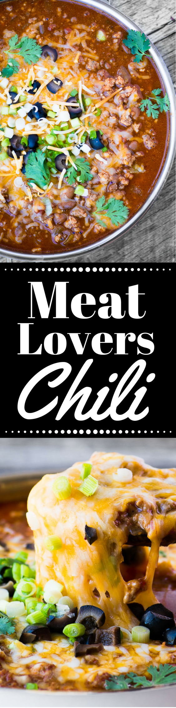Meat Lovers Chili is hearty enough to satisfy the biggest of appetites! ~ theviewfromgreatisland.com