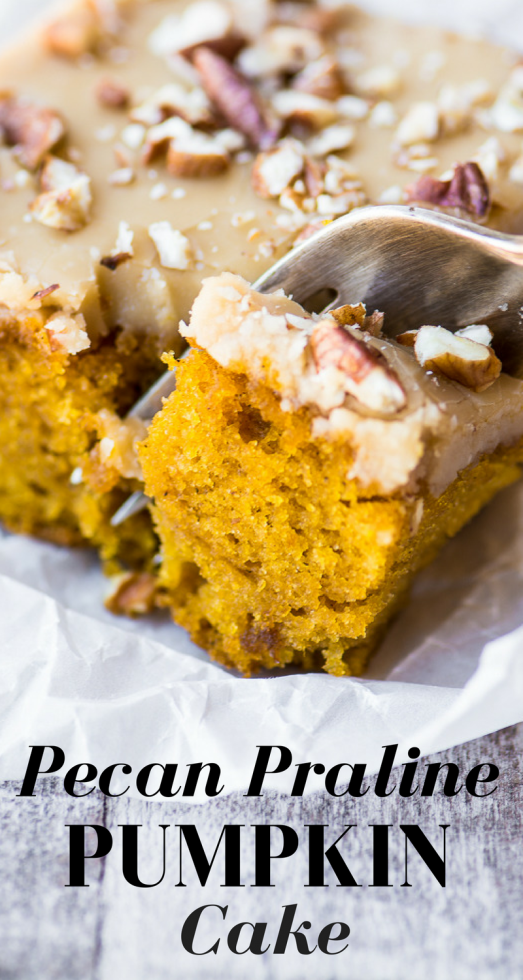 Pecan Praline Pumpkin Cake ~ this Fall's best pumpkin treat! ~ theviewfromgreatisland.com