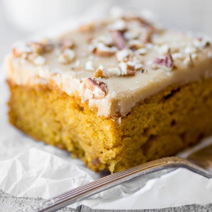 Praline Pecan Pumpkin Cake ~ theviewfromgreatisland.com