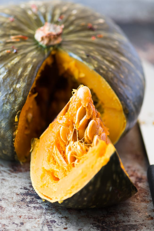 Whole Roasted Kabocha Squash with Chipotle Butter is an unforgettable side dish! ~ theviewfromgreatisland.com