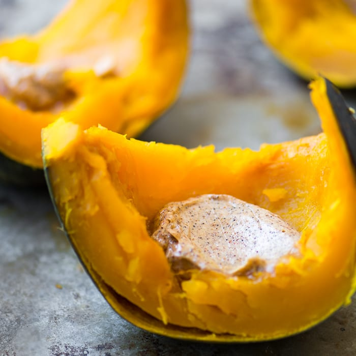 Whole Roasted Kabocha Squash with Chipotle Butter is a fabulous fall side dish! ~ theviewfromgreatisland.com