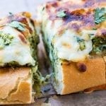Cheesy Spinach Artichoke Bread