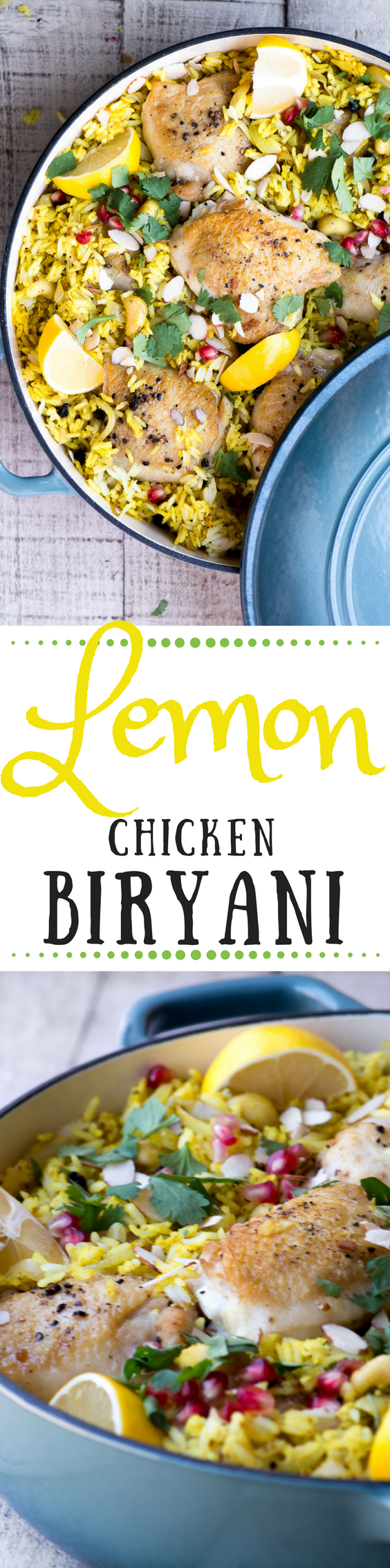 Lemon Chicken Briyani is a vibrant, aromatic one pot chicken thighs and basmati rice meal ~ theviewfromgreatisland.com