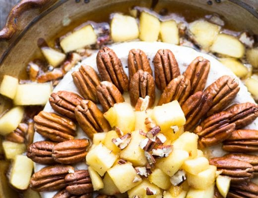 Baked Brie with Apples, Pecans, and Maple Syrup