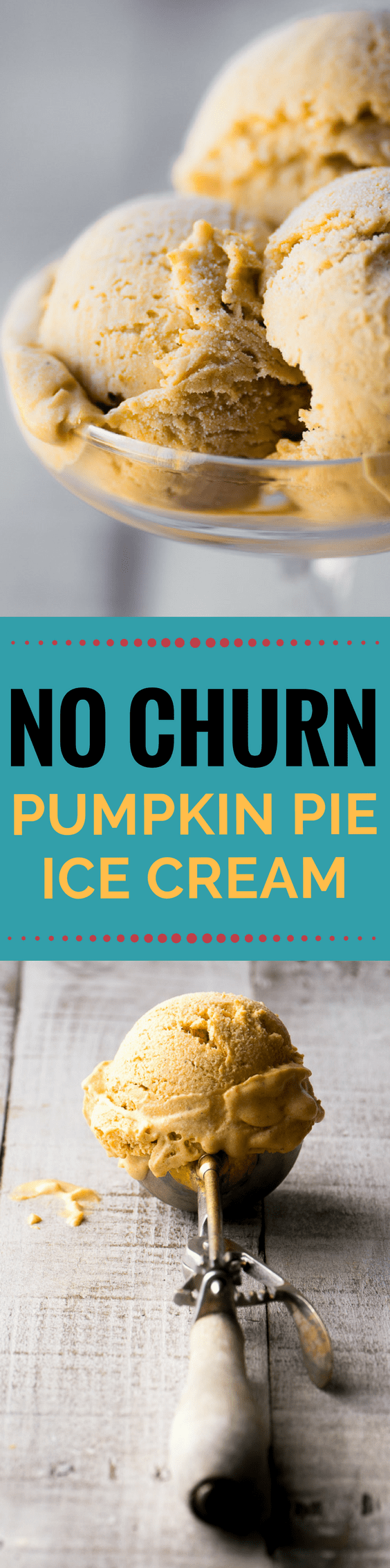No Churn Pumpkin Spice Ice Cream is a super quick and easy homemade ice cream that requires no heavy machinery, and tastes just like your favorite pie! #icecream #nochurnicecream #bestpumpkinicecream #pumpkin #falldessert #dessert #homemadeicecream #bestnochurnicecream #easypumpkinicecream #pumpkinspice