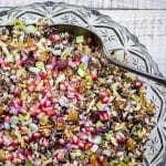 Ancient Grain Salad made with wild rice, farro, and red quinoa is perfect for your holiday tables! ~ theviewfromgreatisland.com