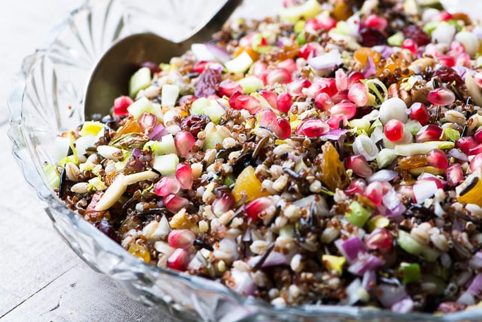 A gorgeous and healthy Ancient Grain salad perfect for the holidays! ~ theviewfromgreatisland.com