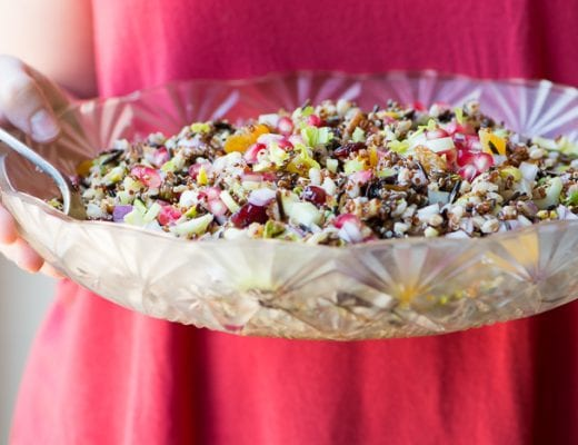 Ancient Grain Salad made with farro, wild rice, and quinoa ~ theviewfromgreatisland.com