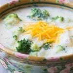 Broccoli and Cheddar Cheese Chowder