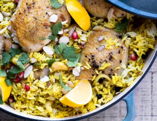 Lemony Chicken Biryani is a lush comforting one pot meal ~ theviewfromgreatisland.com