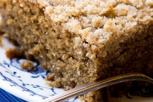 Gingerbread Crumb Cake ~ theviewfromgreatisland.com