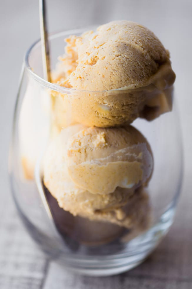 No Churn Pumpkin Ice Cream is a fabulous fall and holiday dessert! ~ theviewfromgreatisland.com