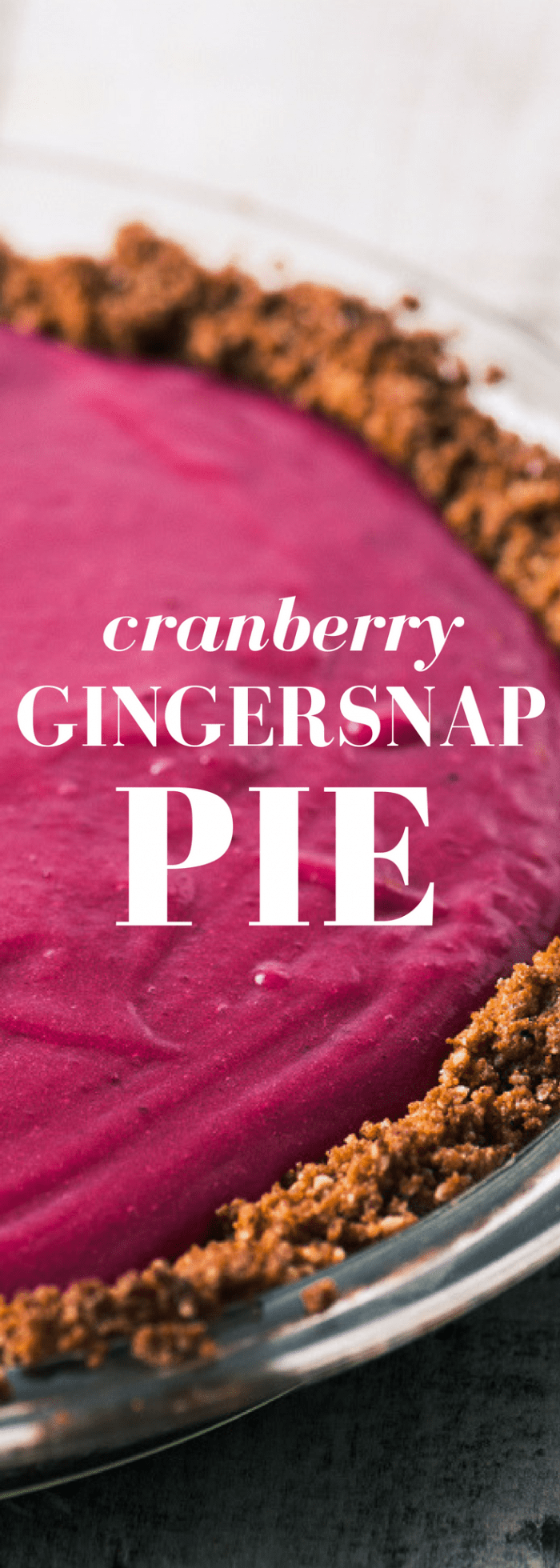Cranberry Gingersnap Pie with its spicy gingersnap crust and silky cranberry curd filling brings a little va-va-voom to the traditional dessert table! ~ theviewfromgreatisland.com