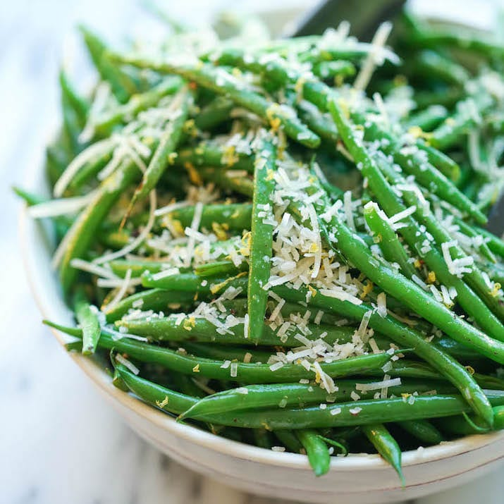Lemon Parmesan Green Beans from Damn Delicious