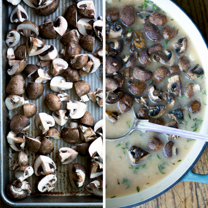 Making Mushroom and Brie Soup ~ theviewfromgreatisland.com