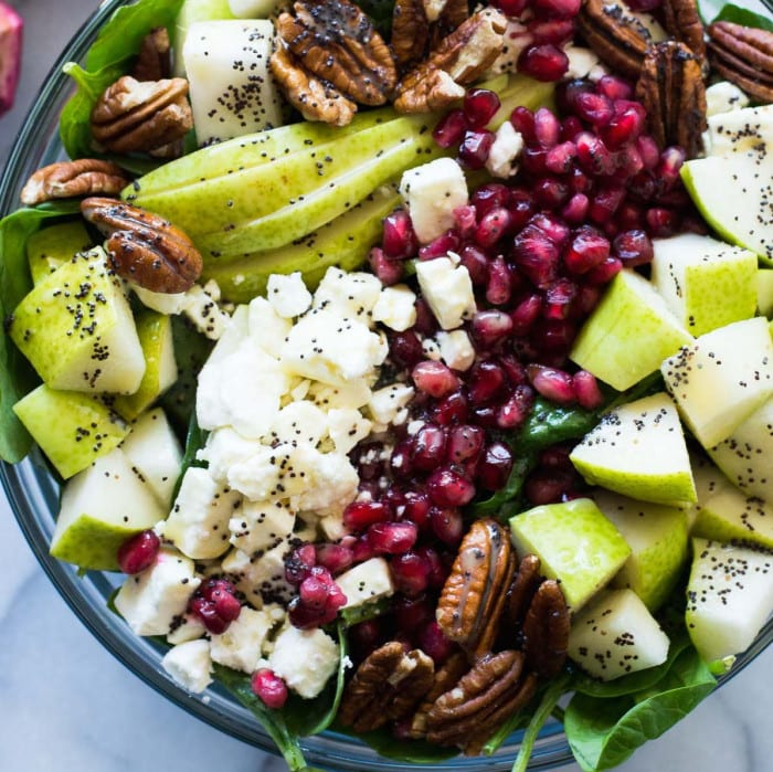 Pear and Pomegranate Salad from House of Yumm