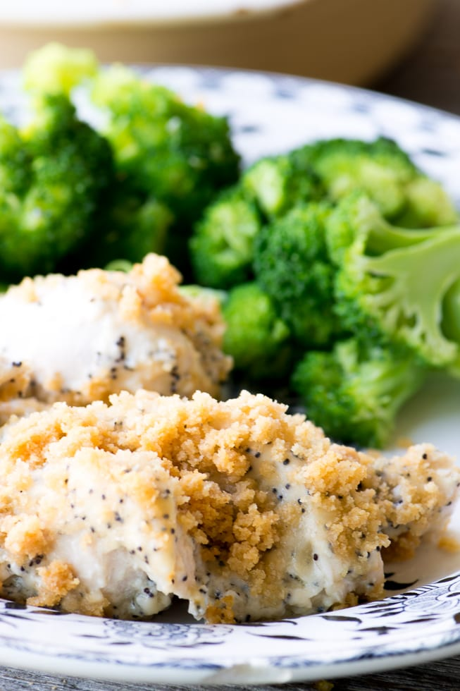 Cheesy Poppy Seed Chicken Casserole is a crowd pleasing family meal ~ everybody comes back for seconds! ~ theviewfromgreatisland.com