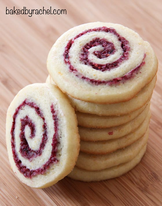 cranberry orange pinwheels from Baked by Rachel