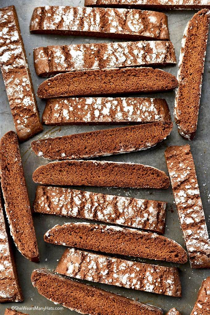 gingerbread biscotti from She Wears Many Hats