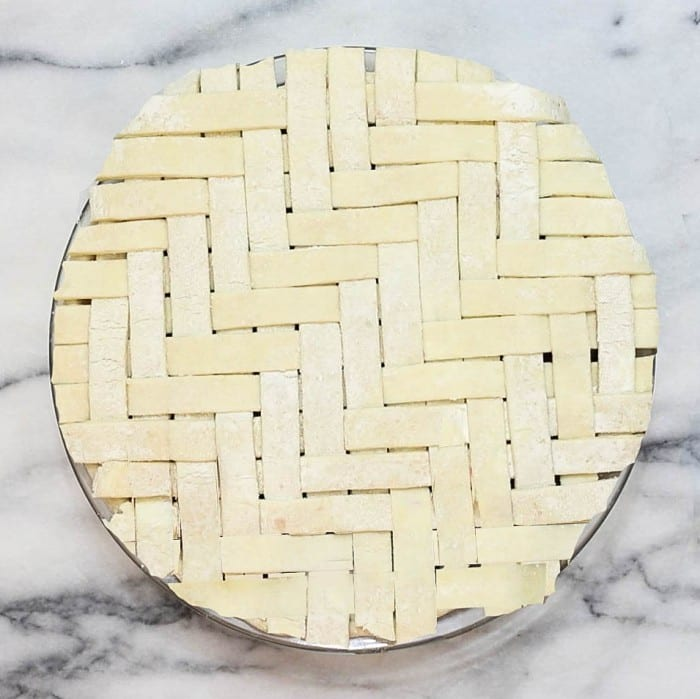 herringbone lattice pie from Serious Eats
