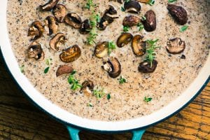 Mushroom and Brie Soup ~ theviewfromgreatisland.com